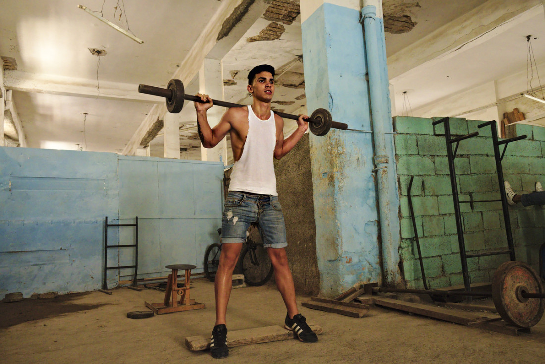 Workout in a Gym of Havana.