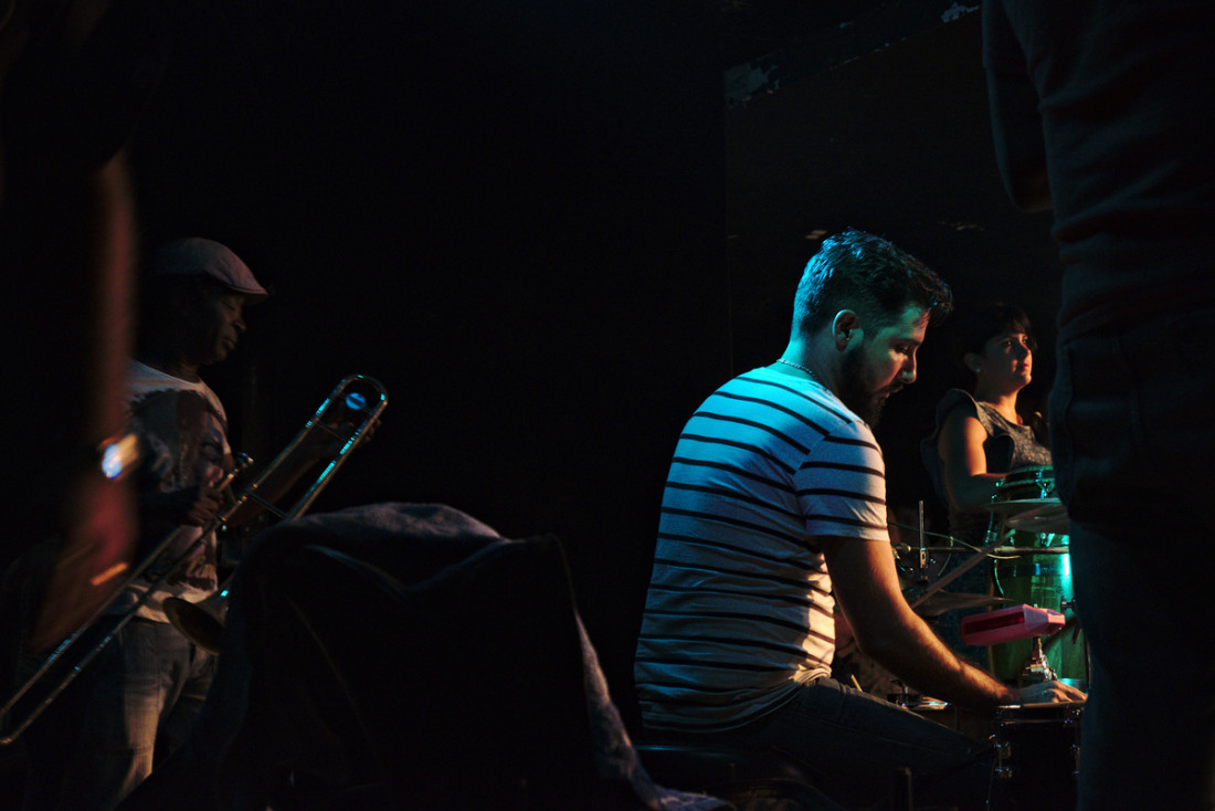 Late night show of Interactivo band at Vedado quarter
